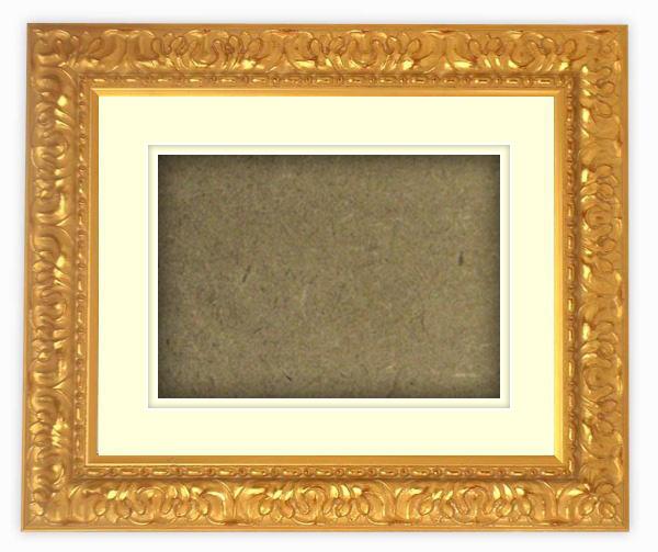 【送料無料】シャドーボックス額縁 246/ゴールド 八つ切サイズ(303×242mm) ☆前面アクリル仕様☆ マット付き(空間深さ30ミリ)【絵画/壁掛け/インテリア/玄関/アートフレーム】