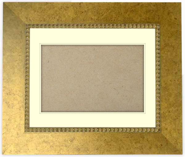 【送料無料】シャドーボックス額縁 HQ869/ゴールド 四つ切サイズ(424×348mm) ☆前面アクリル仕様☆ マット付き(空間深さ30ミリ)【絵画/壁掛け/インテリア/玄関/アートフレーム】