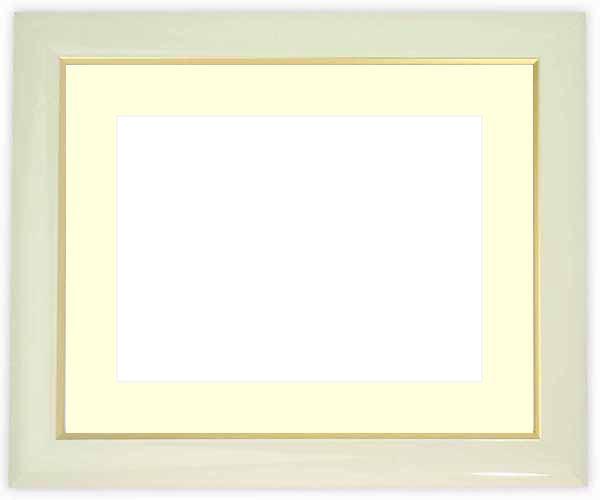 写真用額縁 J501/白 写真全紙(560×457mm)専用 ☆前面アクリル仕様☆マット付き【絵画/壁掛け/インテリア/玄関/アートフレーム】