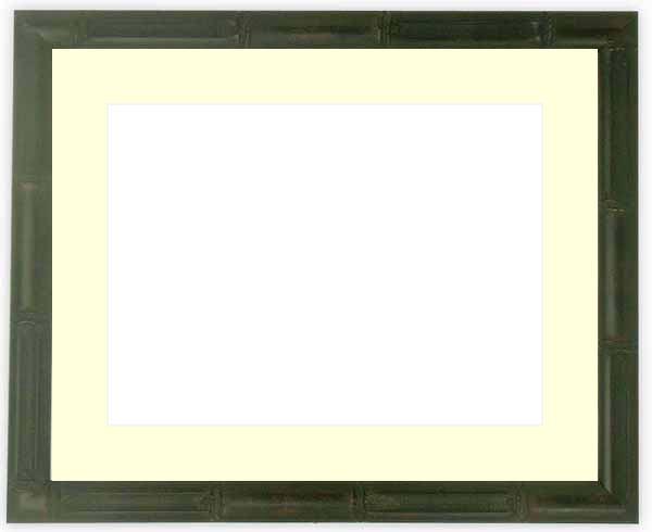 【送料無料】写真用額縁 竹フレーム/黒 写真全紙(560×457mm)専用 ☆前面アクリル仕様☆マット付き【絵画/壁掛け/インテリア/玄関/アートフレーム】