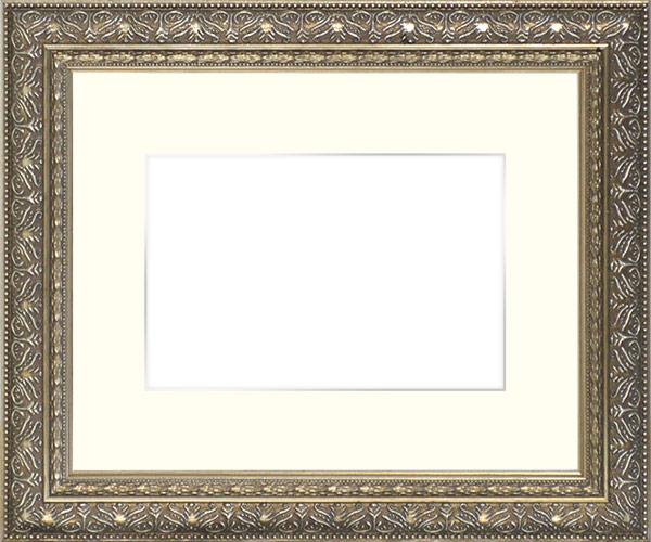 写真用額縁 420型/シルバー B3(515×364mm)専用 ☆前面ガラス仕様☆マット付き(銀色細縁付き)【写真額縁】 【模様・色に仕様変更有り】【絵画/壁掛け/インテリア/玄関/アートフレーム】