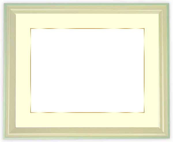 写真用額縁 5654/パールブルー 写真全紙(560×457mm)専用 ☆前面ガラス仕様☆マット付き(金色細縁付き)【写真額縁】【絵画/壁掛け/インテリア/玄関/アートフレーム】
