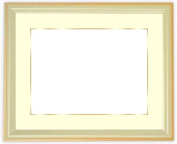 写真用額縁 5654/パールオレンジ 写真全紙(560×457mm)専用 ☆前面アクリル仕様☆マット付き(金色細縁付き)【絵画/壁掛け/インテリア/玄関/アートフレーム】