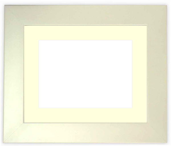 写真用額縁 5659/パールホワイト A2サイズ(594×420mm)専用 ☆前面アクリル仕様☆【絵画/壁掛け/インテリア/玄関/アートフレーム】