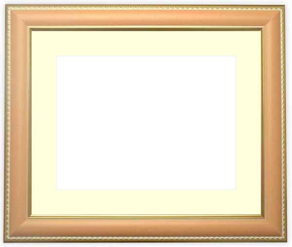 写真用額縁 9614/オレンジ A2(594×420mm)専用☆前面アクリル仕様☆マット付き【絵画/壁掛け/インテリア/玄関/アートフレーム】