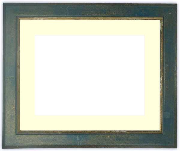 押し花額縁 9650/ブルー 大全紙サイズ(ガラス寸法724×542mm)【os-B】【絵画/壁掛け/インテリア/玄関/アートフレーム】