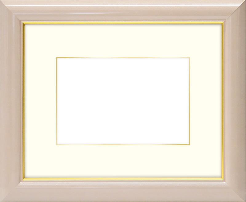 写真用額縁 30009/パールピンク 写真全紙(560×457mm)専用 ☆前面アクリル仕様☆マット付き(金色細縁付き)【絵画/壁掛け/インテリア/玄関/アートフレーム】