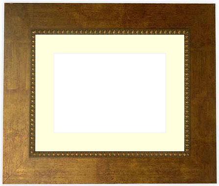 押し花額縁 HQ805/ゴールド 三三サイズ(ガラス寸法603×452mm)【os-B】【絵画/壁掛け/インテリア/玄関/アートフレーム】