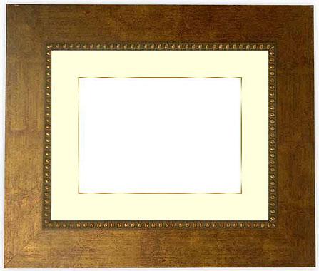 写真用額縁 HQ805/ゴールド 写真全紙(560×457mm)専用【写真額】☆前面ガラス仕様☆マット付き(金色細縁付き)【写真額縁】【絵画/壁掛け/インテリア/玄関/アートフレーム】