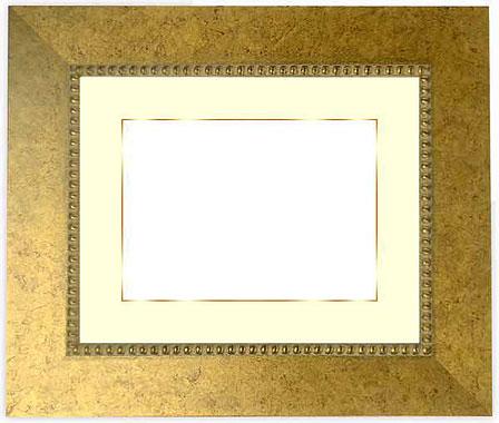 水彩額 HQ869/ゴールド 水彩F6(410×318mm)専用☆前面ガラス仕様☆マット付き(金色細縁付き)【絵画/壁掛け/インテリア/玄関/アートフレーム】