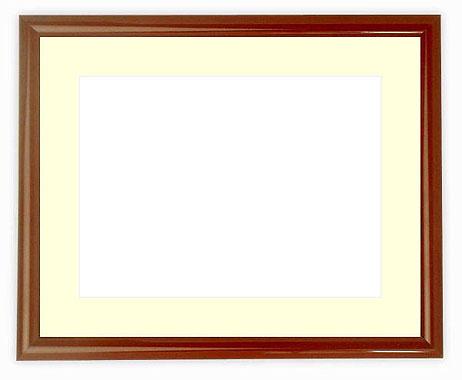 【送料無料】水彩額 713/赤タメ 水彩F10(530×455mm)専用 ☆前面アクリル仕様☆マット付き【絵画/壁掛け/インテリア/玄関/アートフレーム】