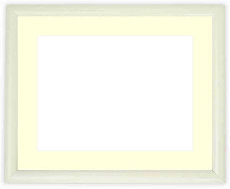 写真用額縁 713/白 B3(515×364mm)専用【写真額】☆前面ガラス仕様☆マット付き【写真額縁】【絵画/壁掛け/インテリア/玄関/アートフレーム】