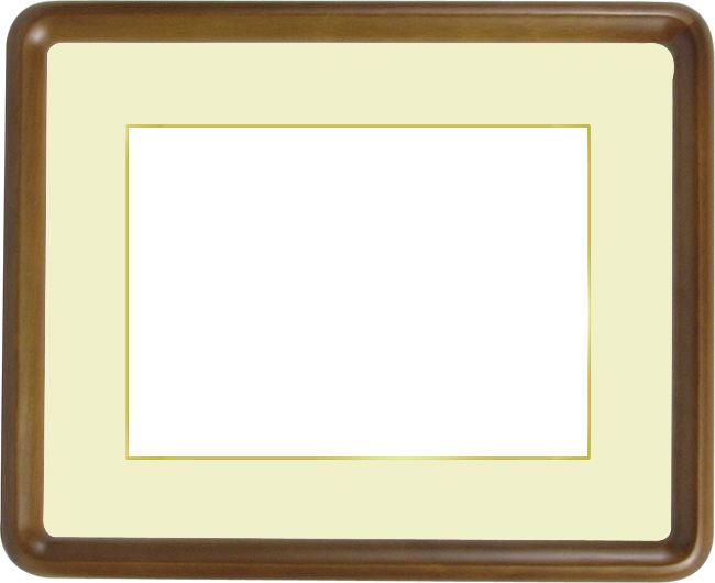 【送料無料】写真用額縁 D717/オーク A2サイズ(594×420mm)専用☆前面アクリル仕様☆マット付き(金色細縁付き)【絵画/壁掛け/インテリア/玄関/アートフレーム】