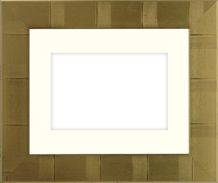 写真用額縁 8108/ゴールド B3(515×364mm)専用☆前面ガラス仕様☆マット付き【写真額】【絵画/壁掛け/インテリア/玄関/アートフレーム】
