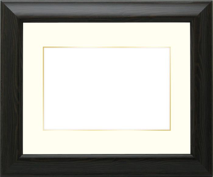写真用額縁 CB-18/ブラウン 写真全紙(560×457mm)専用☆前面アクリル仕様☆マット付き(金色細縁付き)【写真額】【絵画/壁掛け/インテリア/玄関/アートフレーム】
