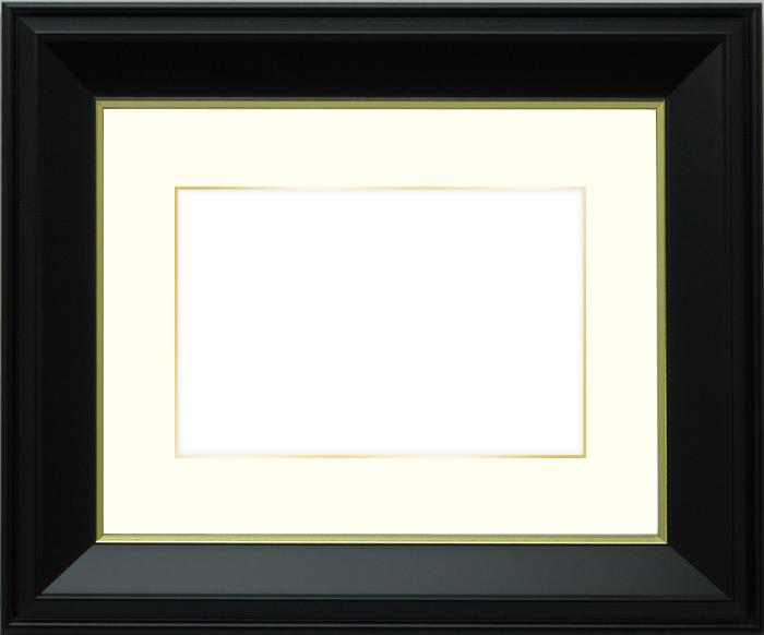 【キズ・ヘコミあり品】写真用額縁 寸五入山 写真全紙(560×457mm)専用☆前面ガラス仕様☆マット付き(金色細縁付き)【写真額】【絵画/壁掛け/インテリア/玄関/アートフレーム】