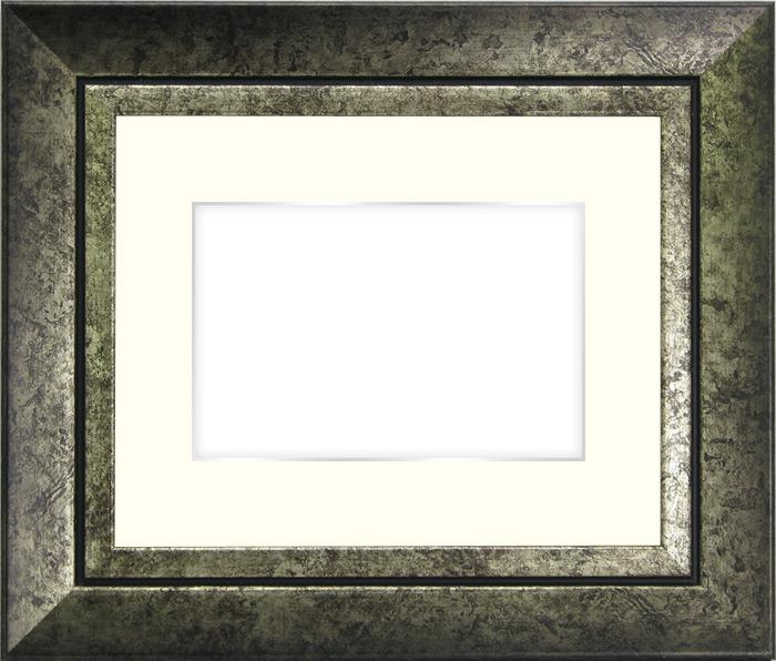 写真用額縁 シャドウ/シルバー B3(515×364mm)専用☆前面ガラス仕様☆マット付き(銀色細縁付き)【写真額】【絵画/壁掛け/インテリア/玄関/アートフレーム】