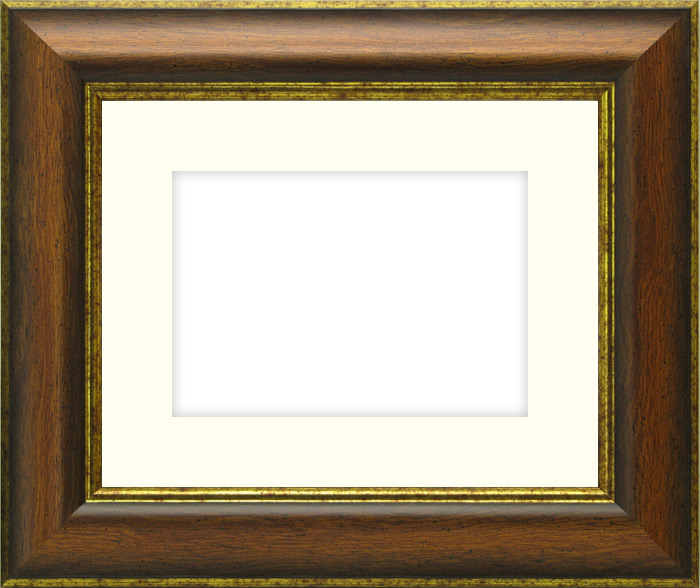 【キズ・ヘコミ有り】写真用額縁 9640/Gブラウン B3(515×364mm)☆前面ガラス仕様☆マット付き【絵画/壁掛け/インテリア/玄関/アートフレーム】