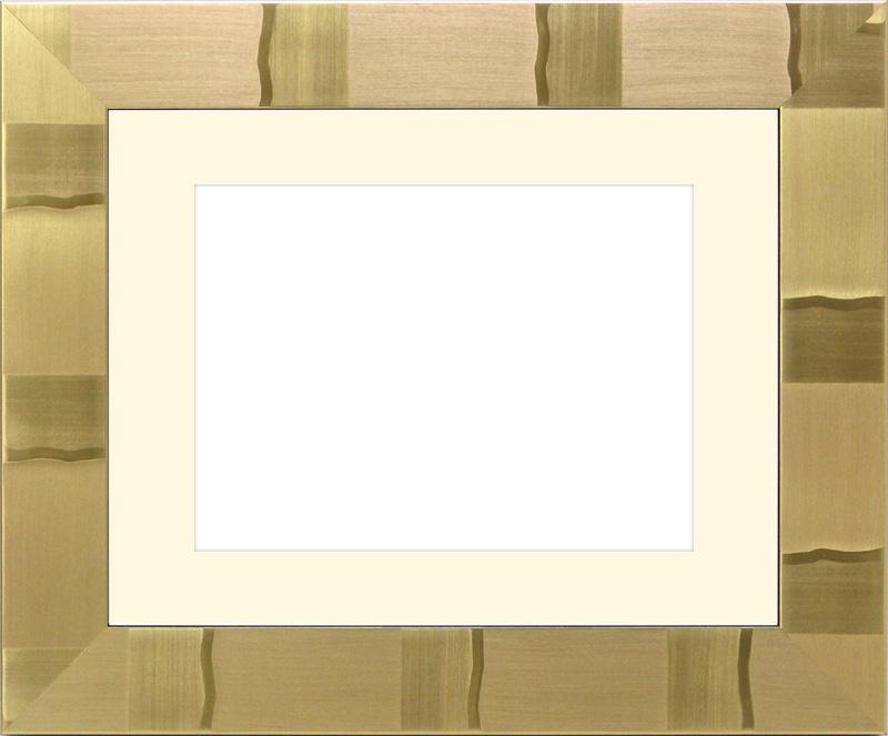 写真用額縁 エスポワール/ゴールド A2(594×420mm)☆前面ガラス仕様☆マット付【絵画/壁掛け/インテリア/玄関/アートフレーム】