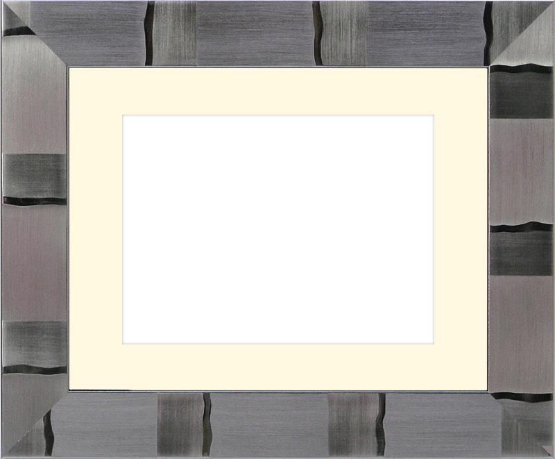 写真用額縁 エスポワール/シルバー B3(515×364mm)☆前面アクリル仕様☆マット付(銀色細縁付き)【絵画/壁掛け/インテリア/玄関/アートフレーム】