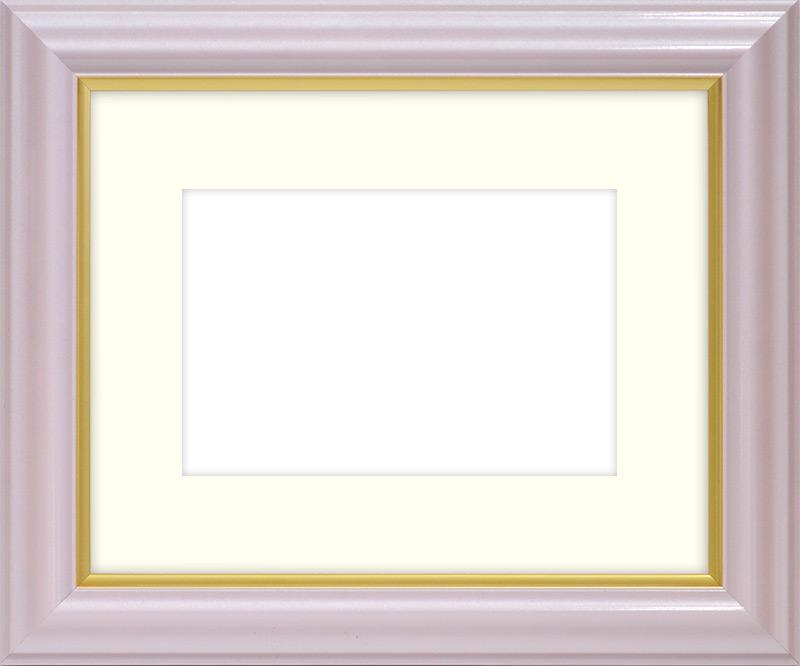 押し花額縁 工芸型/パールピンク 小全紙サイズ(ガラス寸法657×506mm)【os-B】【絵画/壁掛け/インテリア/玄関/アートフレーム】
