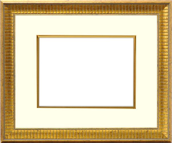 写真用額縁 8143/ゴールド 写真A2(594×420mm)専用 ☆前面アクリル仕様☆ マット付き(金色細縁付き)【写真額】【絵画/壁掛け/インテリア/玄関/アートフレーム】