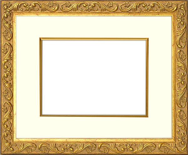 写真用額縁 8201/アンティークゴールド 写真B4(364×257mm)専用 ☆前面ガラス仕様☆ マット付き(金色細縁付き)【写真額】【絵画/壁掛け/インテリア/玄関/モダン/美術品/アートフレーム】