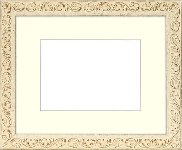 写真用額縁 8201/ホワイト 写真A2(594×420mm)専用 ☆前面アクリル仕様☆ マット付き【写真額】【絵画/壁掛け/インテリア/玄関/アートフレーム】