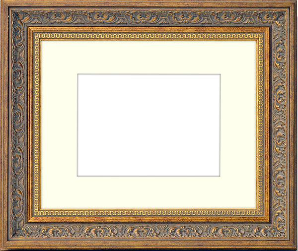 写真用額縁 8203 アンティークゴールド 写真四つ切 305×254mm 専用前面ガラス仕様マット付き 写真額絵画 壁掛け インテリア 玄関 モダン 美術品 アートフレームnw0k8PXO