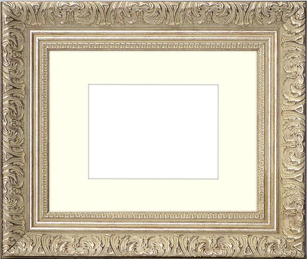 写真用額縁 8209 シルバー 写真W四つ切 366×254mm 専用前面ガラス仕様マット付き 写真額絵画 壁掛けYf6vybI7g