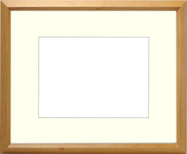 写真用額縁 D711/木地 写真B3(515×364mm)専用 ☆前面アクリル仕様☆ マット付き【写真額】【絵画/壁掛け/インテリア/玄関/ナチュラル/リビング/アートフレーム】