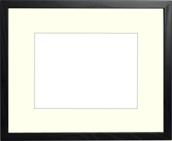 写真用額縁 D816/ブラック 写真A2(594×420mm)専用 ☆前面アクリル仕様☆ マット付き【写真額】【絵画/壁掛け/インテリア/玄関/アートフレーム】