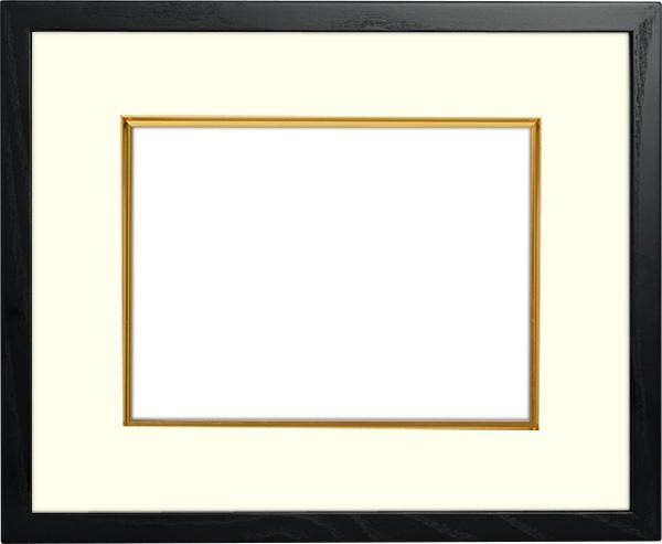 写真用額縁 D816/ブラック 写真A2(594×420mm)専用 ☆前面アクリル仕様☆ マット付き(金色細縁付き)【写真額】【絵画/壁掛け/インテリア/玄関/アートフレーム】