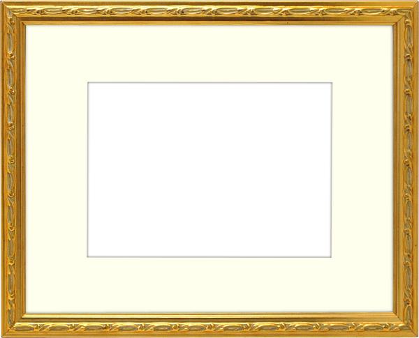 写真用額縁 コリント/ゴールド 写真A2(594×420mm)専用 ☆前面アクリル仕様☆ マット付き【写真額】【絵画/壁掛け/インテリア/玄関/アートフレーム】