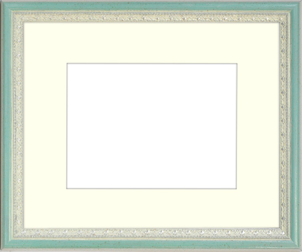 写真用額縁 マジョルカ/Sブルー 写真A2(594×420mm)専用 ☆前面アクリル仕様☆ マット付き【写真額】【絵画/壁掛け/インテリア/玄関/アートフレーム】