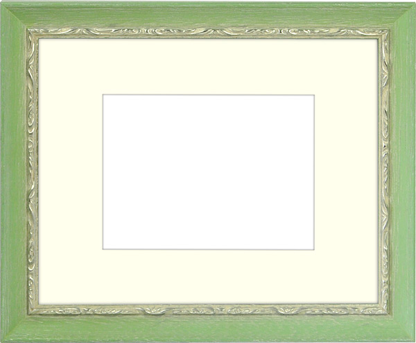 写真用額縁 モナコ/緑 写真B3(515×364mm)専用 ☆前面アクリル仕様☆ マット付き【写真額】【絵画/壁掛け/インテリア/玄関/アートフレーム】