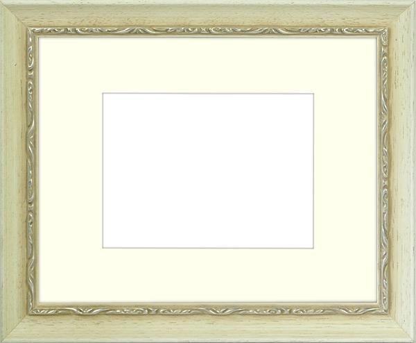 写真用額縁 モナコ/白 写真B3(515×364mm)専用 ☆前面アクリル仕様☆ マット付き【写真額】【絵画/壁掛け/インテリア/玄関/アートフレーム】