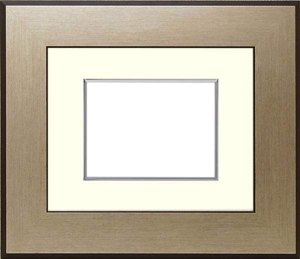 写真用額縁 シルバニスト B3(515×364mm)専用☆前面アクリル仕様☆マット付き(銀色細縁付き)【絵画/壁掛け/インテリア/玄関/アートフレーム】