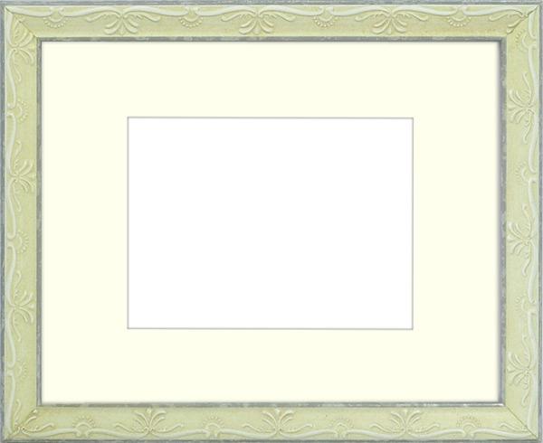 写真用額縁 ウィーン/白S 写真A2(594×420mm)専用 ☆前面アクリル仕様☆ マット付き【写真額】【絵画/壁掛け/インテリア/玄関/アートフレーム】