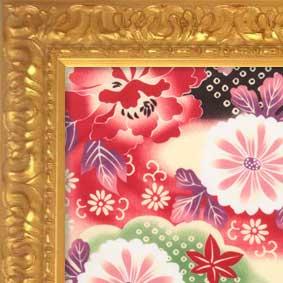 手ぬぐい額縁 246/ゴールド ☆前面アクリル仕様☆ 【オーダー品の為返品・交換不可】【絵画/壁掛け/インテリア/玄関/アートフレーム】