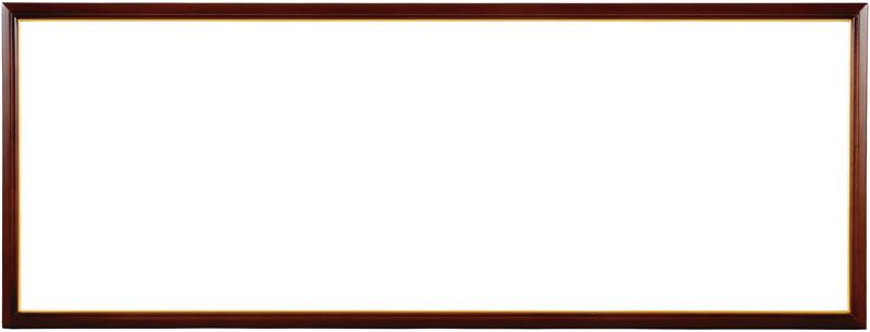 横長額縁 D830/リッチブラウン 890×340mm ☆前面アクリル仕様☆【ラーソン・ジュール】【絵画/壁掛け/インテリア/玄関/アートフレーム】