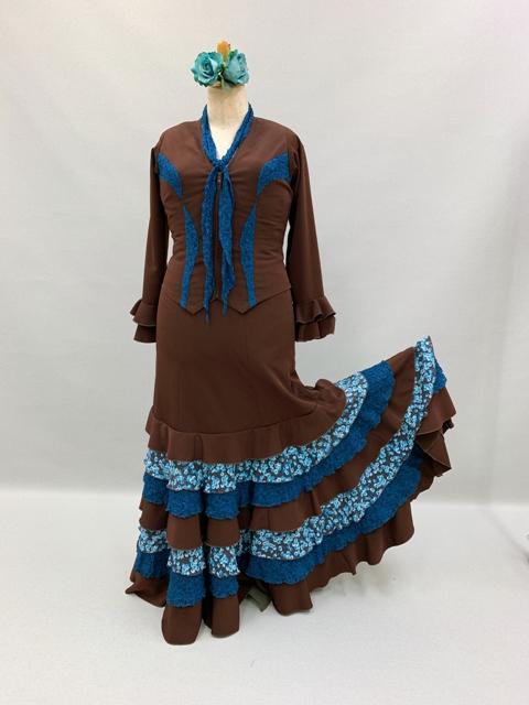 フラメンコ衣装 大きいサイズクイーンサイズ 赤白水玉ツーピース 1点もの衣装ビッグなサイズ ナジャハウス