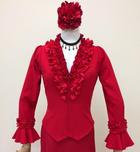 こちらの商品はイージーオーダーでも作れます フラメンコ衣装 ブラウス フラメンコ 赤 イージーオーダー セミオーダー ピッタリサイズ 海外並行輸入正規品 踊りやすい 新作製品、世界最高品質人気! ナジャハウス ステージ衣装 舞台衣装 高級感 ダンス衣装 おしゃれ