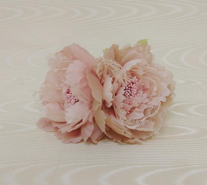 ※ラッピング ※ 花髪飾り ストア フローレスフラメンコ花飾りコサージュ フラメンコ衣装ピンク花飾り ナジャハウス