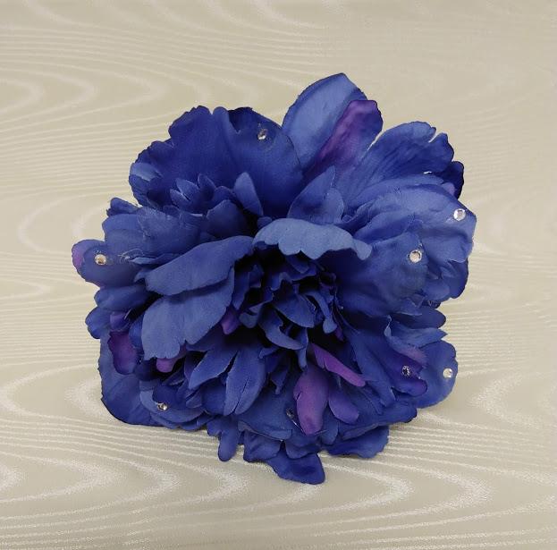 賜物 花髪飾り 1着でも送料無料 フローレスフラメンコ花飾りコサージュ ナジャハウス フラメンコ衣装ブル-花飾り