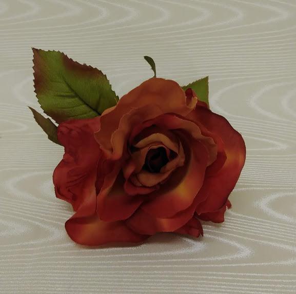 花髪飾り フローレスフラメンコ花飾りコサージュ ブランド買うならブランドオフ 品質保証 フラメンコ衣装オレンジー花飾り ナジャハウス