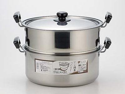 満菜 IH対応蒸しもの鍋 二段蒸し器30cm 1.5升炊き SH9868