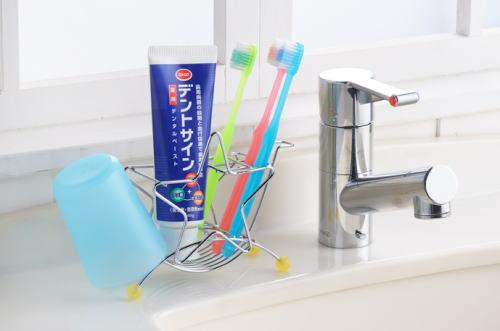 清潔感のあるステンレス製で星型のかわいい歯ブラシ立て 即納送料無料! 格安激安 星型歯ブラシスタンド