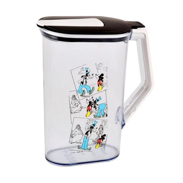 ディズニーデザインのワンタッチでオープンする洗いやすいピッチャー 日本正規品 冷水筒 最安値に挑戦 ウォータージャグ ディズニークールポット2L ミッキーマウス