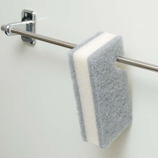 お風呂のバーに掛けられる 通販 収納場所をとらない便利なバススポンジです 吊れるんです フッキングスポンジ 入荷予定 S1
